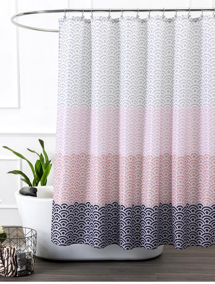 Longer Pink Bathroom Shower Curtain