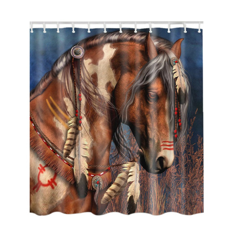 Shower Curtain Horse 1