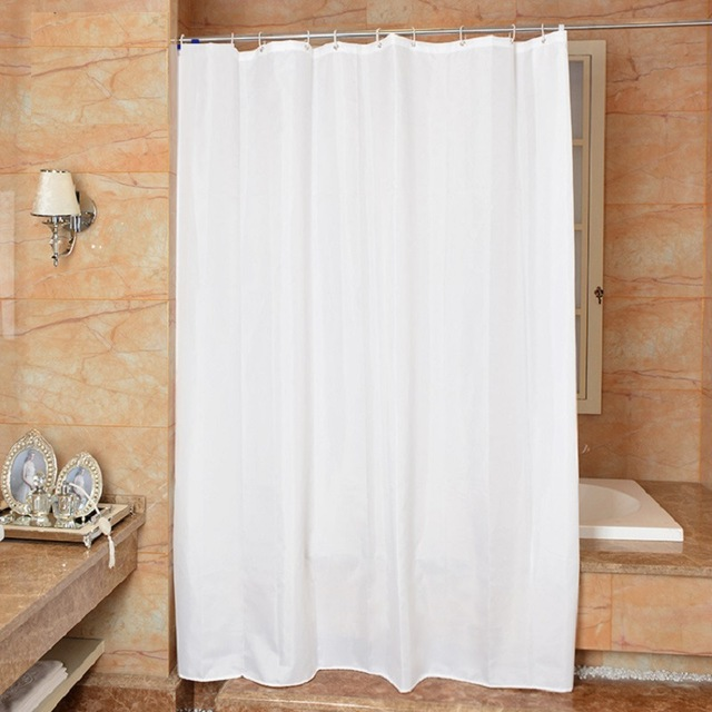 Designer Shower Curtains Fabric White Simple Bath