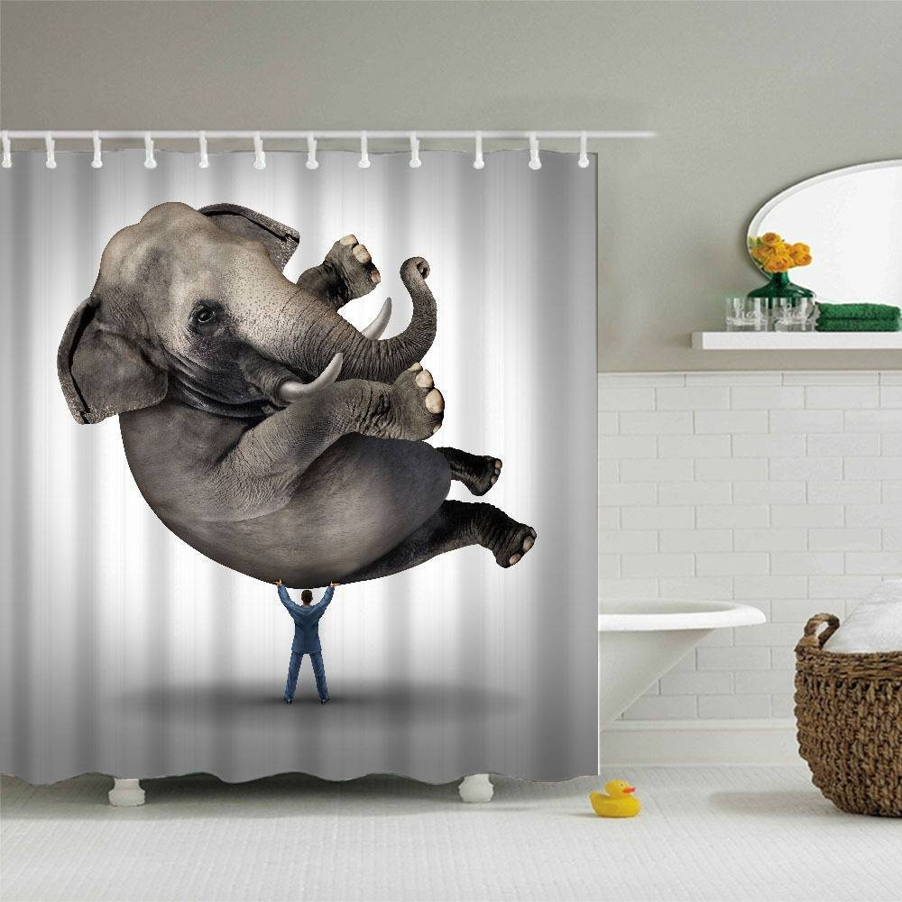 Funny Shower Curtains Elephant