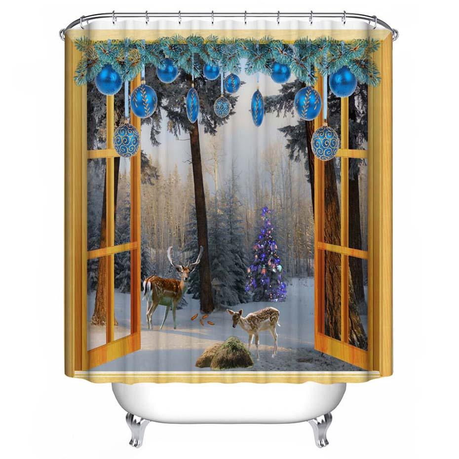 Walmart Christmas Shower Curtains