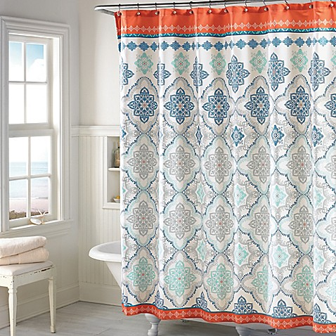 Bed Bath And Beyond Shower Curtains Henna Blue