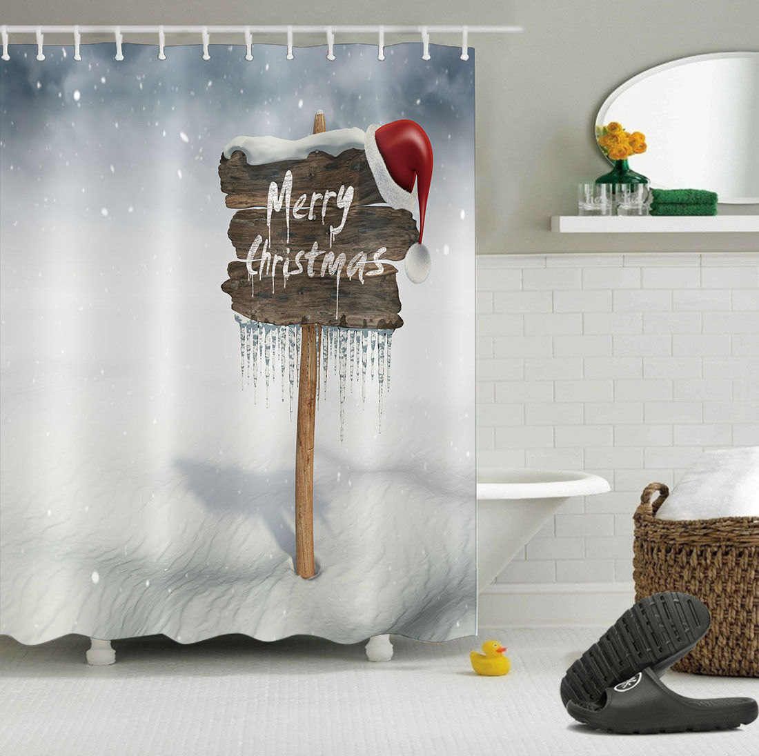 bed bath beyond christmas shower curtains