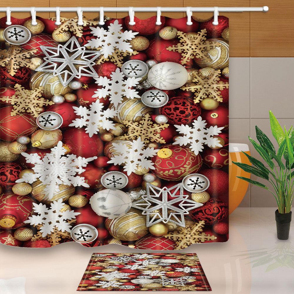 Christmas Bath Decor Shower Curtains
