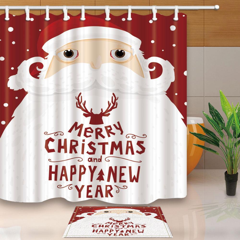 Christmas Bathroom Shower Curtains Sale