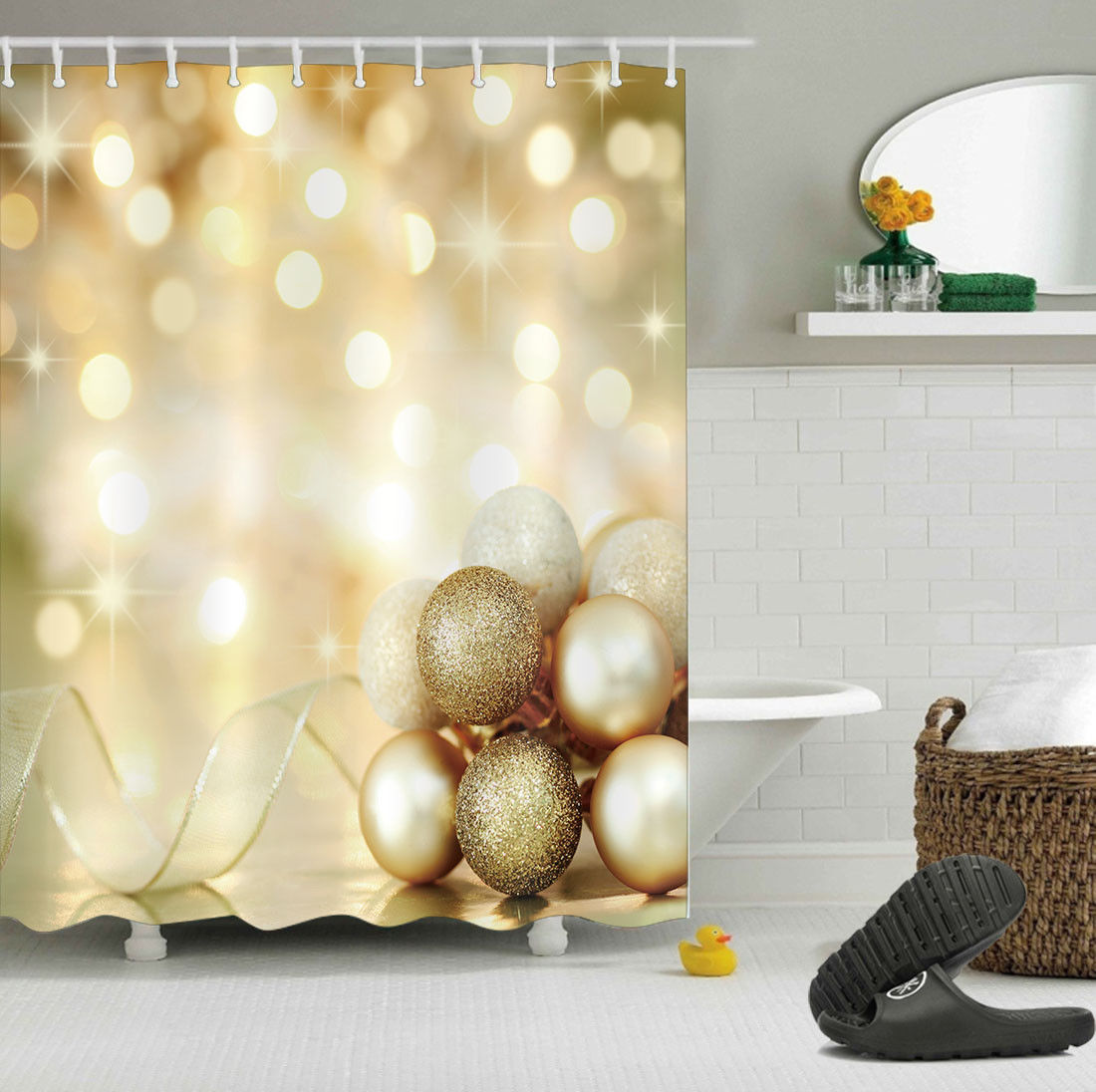 christmas shower curtains at bed bath and beyond - Bed Bath And Beyond Christmas Decorations