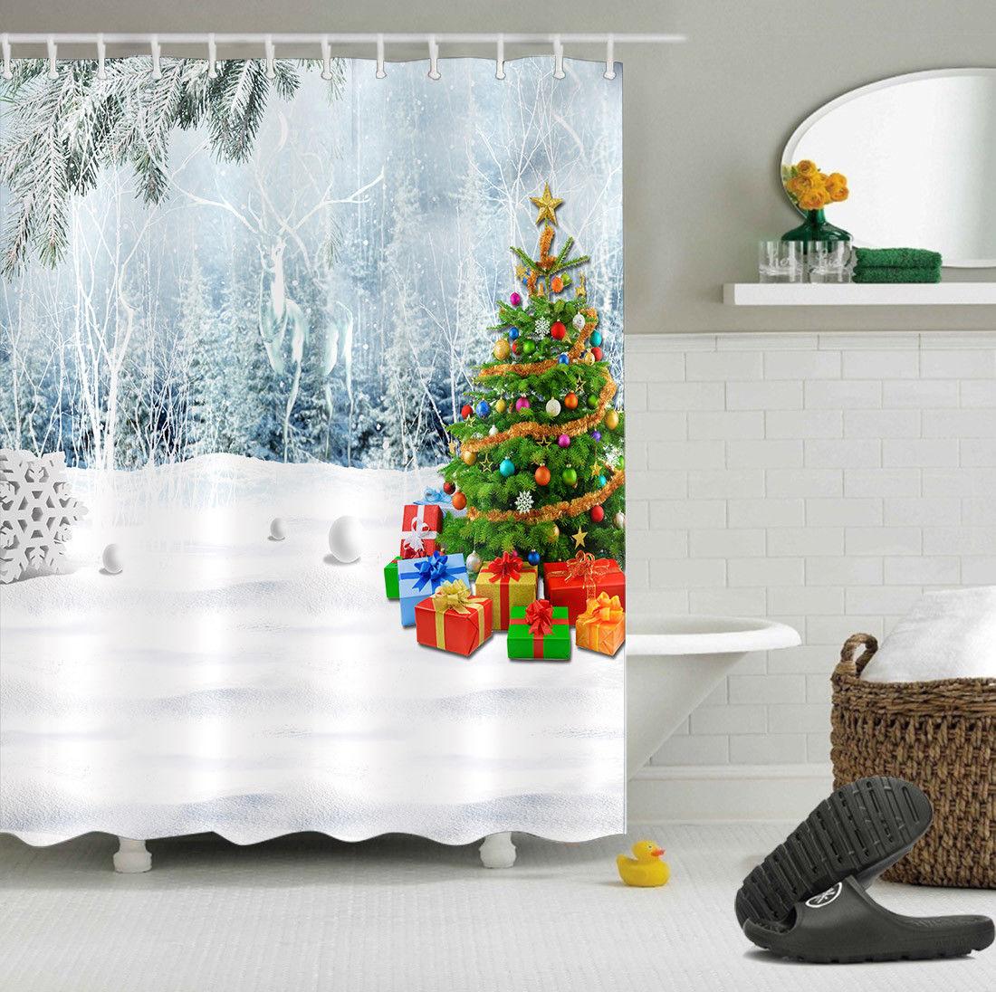 Christmas Shower Curtains Ebay