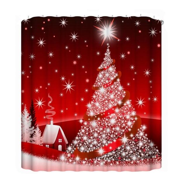 Christmas Shower Curtains Hooks