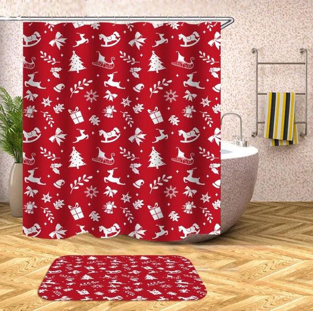 christmas shower curtains towels | bath supplies.store