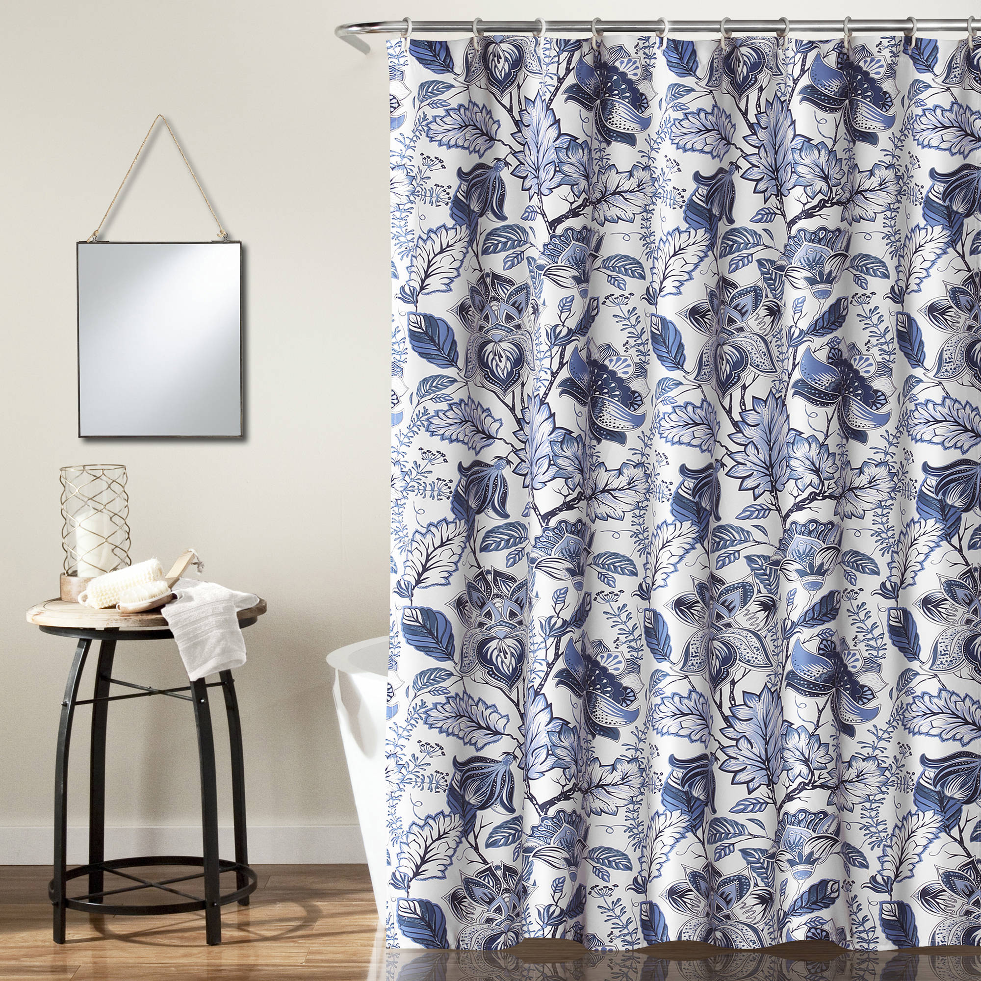 Custom Made Shower Curtains PhotosDusty Blue