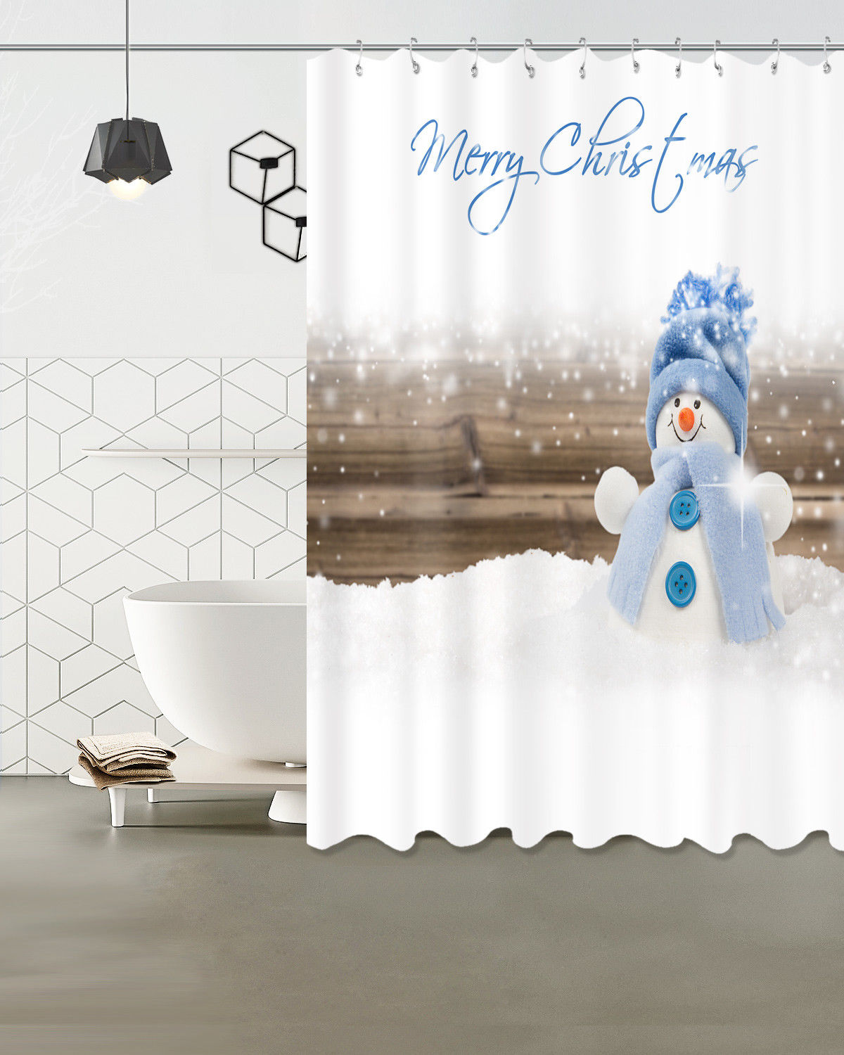 Fabric Christmas Shower Curtains