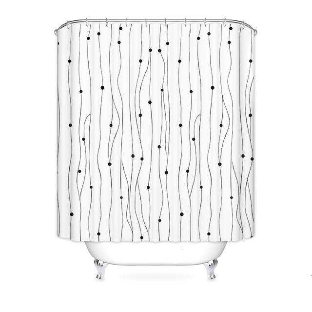 Kohls Fabric Shower Curtains White Simple Geometry