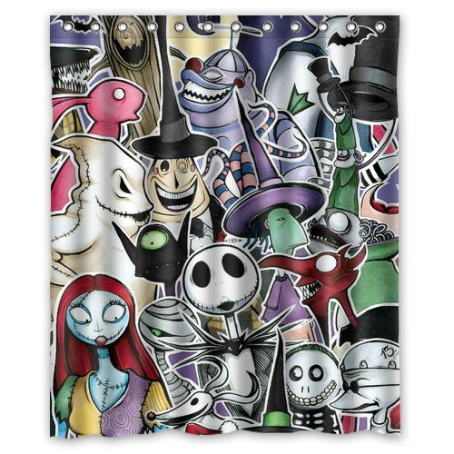 Nightmare Before Christmas Shower Curtains