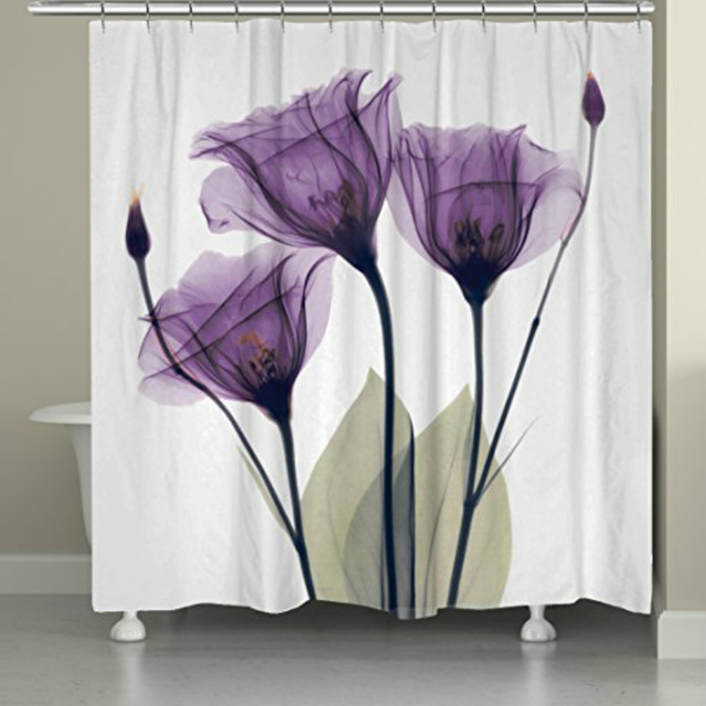 Purple Fabric Shower Curtains