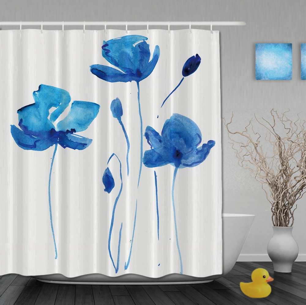 Shower Curtains At Bed Bath And Beyond Blue Flower