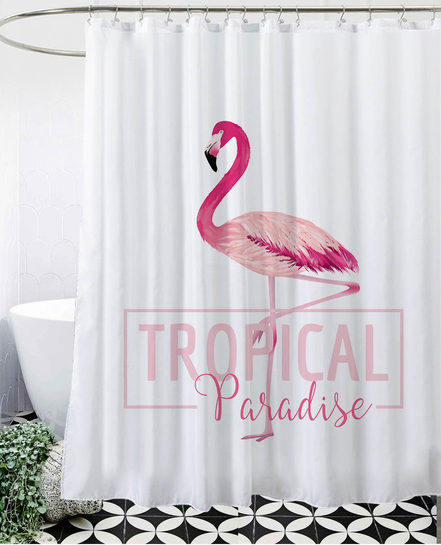 shower curtains at bed bath and beyond TROPICAL Flamingo | bath ...