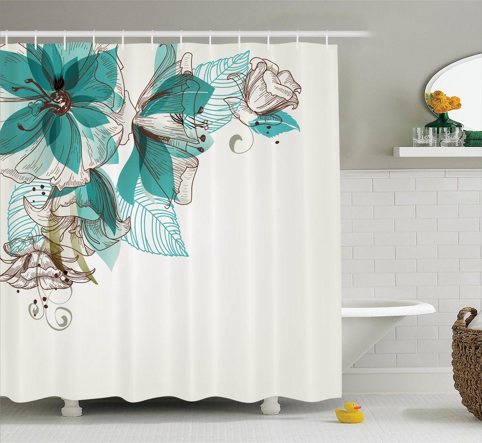 Shower Curtains At Kohls Flowers Buds Leaf