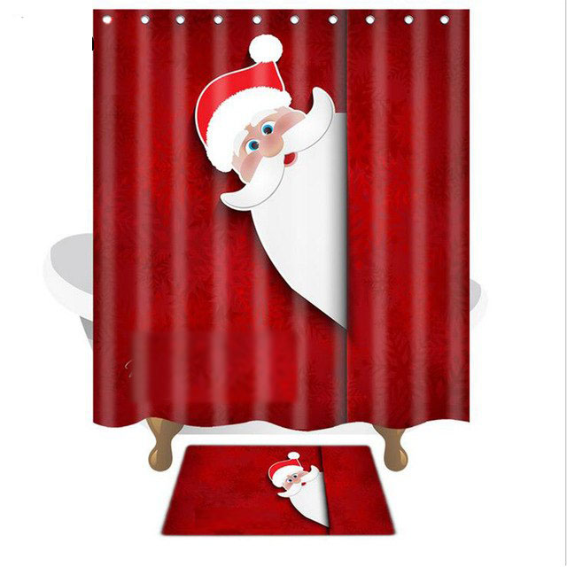 Bath Mat And Shower Curtain Set Christmas Curtains