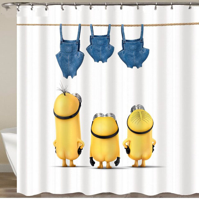 Yellow Shower Curtains Series Bath Polyester